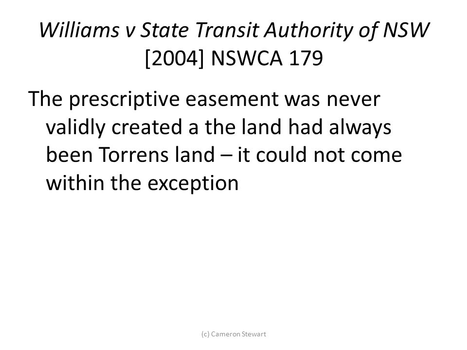 Williams v State Transit Authority of NSW [2004] NSWCA 179